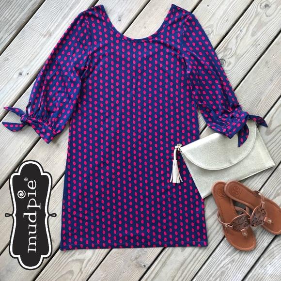 d087d91193587 Mud Pie Dresses | Anderson Dot Tie Sleeve Dress S | Poshmark